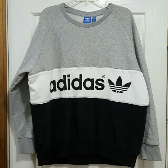 Adidas Originals Color Block Logo Sweatshirt Xl